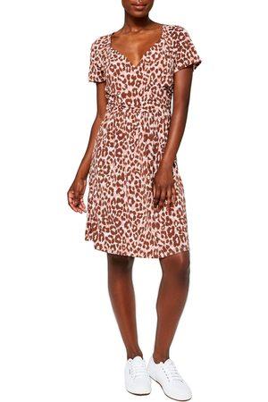 Leota Women's Sweetheart Faux Wrap Dress