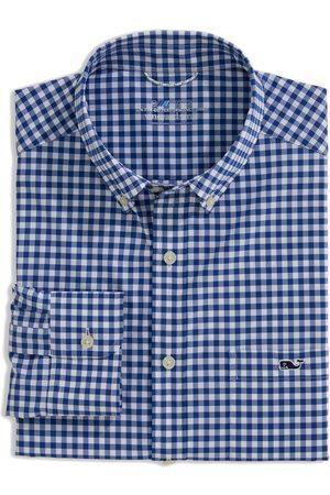 Vineyard Vines Men's On-The-Go Gingham Performance Button-Down Shirt