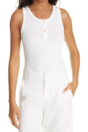 Vince Women's Ribbed Henley Tank Top