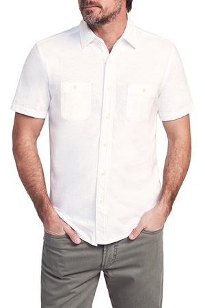Faherty Men's Seasons Regular Fit Knit Short Sleeve Button-Up Shirt