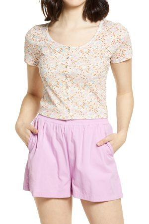 BP. Women's Button Front Cotton Blend T-Shirt