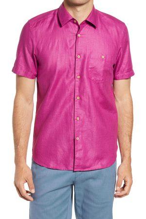 Ted Baker Men's Civiche Linen & Cotton Button-Up Shirt