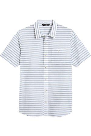 Travis Mathew Men's Last Hurrah Stripe Short Sleeve Button-Up Shirt