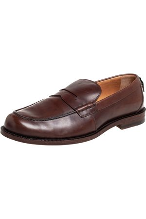 Gucci Men Loafers - Leather Penny Loafers Size 42.5