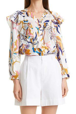 Rodebjer Women's Tinko Silk Long Sleeve Button-Up Shirt