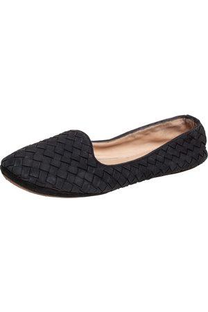Bottega Veneta Interecciato Suede Smoking Slippers Size 37