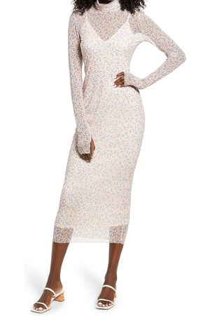 AFRM Women's Shailene Sheer Long Sleeve Dress