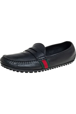 Gucci Leather Slip On Loafers Size 42.5
