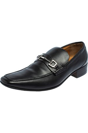 Gucci Leather Horsebit Slip On Loafers Size 43.5