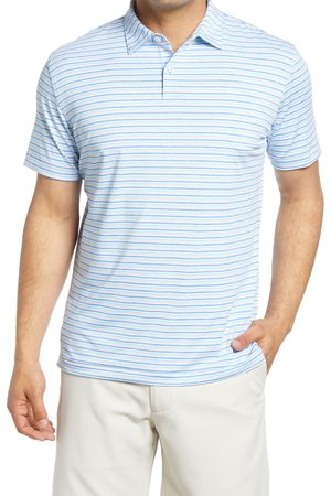 Peter Millar Men's Soul Stripe Short Sleeve Performance Golf Polo