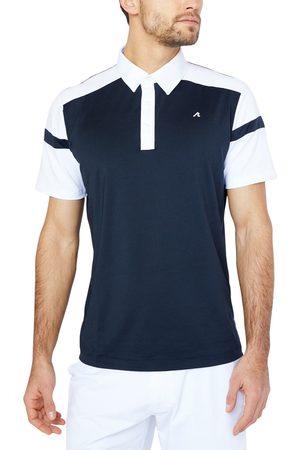 Redvanly Men's Stockton Athletic Fit Colorblock Golf Polo