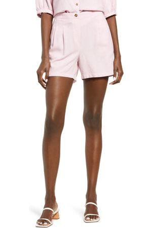 VERO MODA Women's High Waist Linen Blend Shorts