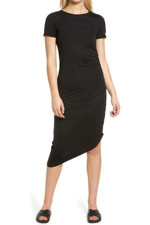 VERO MODA Women's Jenny Asymmetrical Ruched T-Shirt Dress