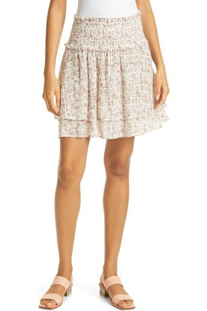 Rails Women's Addison Smocked Floral Miniskirt