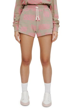 Eleven Paris Women's Bandana Print Fleece Shorts