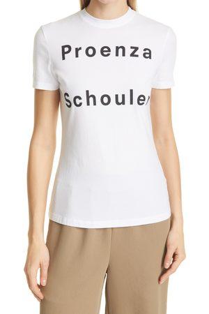 Proenza Schouler Women's Stretch Cotton Logo Graphic Tee