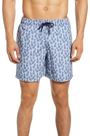 Stone Rose Men's Pineapple Print Swim Trunks