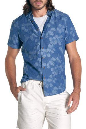 Rodd & Gunn Men's New Chums Beach Floral Short Sleeve Chambray Button-Up Shirt