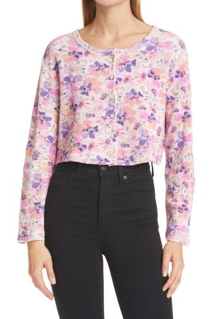 LOVESHACKFANCY Women's Glasgow Floral Crop Cardigan
