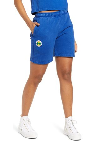 CROSS COLOURS Women's Fleece Circle Logo Shorts