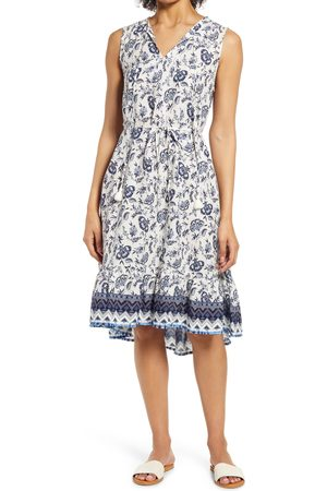 Beachlunchlounge Women's Lou Lou Belted Sleeveless Shift Dress