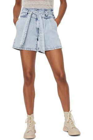 VERO MODA Women's Belted High Waist Denim Shorts