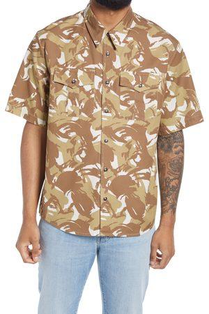 A.P.C. Men's Joey Print Short Sleeve Button-Up Shirt