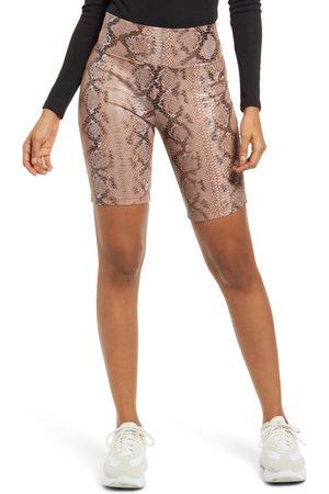 KENDALL + KYLIE Women's Snake Print Bike Shorts