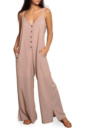 dRA Women's Mandi Check Sleeveless Jumpsuit