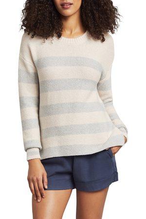 Faherty Women's Ojai Nautical Stripe Cotton Blend Sweater