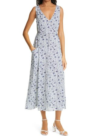DYVNA Women's Floral Sleeveless Silk Blend Dress