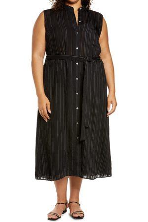Vince Plus Size Women's Stripe Sleeveless Shirtdress