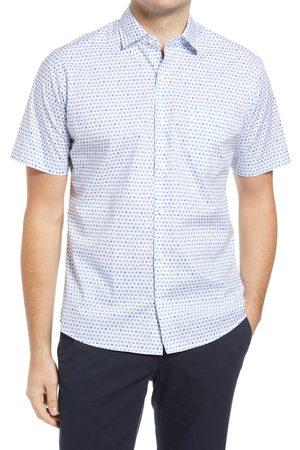 Peter Millar Men's On The Rocks Stretch Short Sleeve Button-Up Shirt