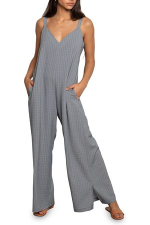 dRA Women's Colline Check Sleeveless Jumpsuit