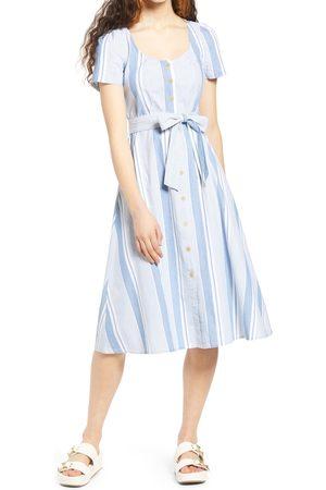 VERO MODA Women's Makela Stripe Cotton Chambray Dress