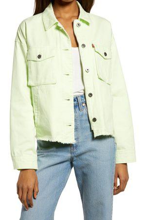 Levi's Women's Crop Raw Hem Utility Jacket