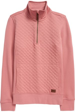L.L.BEAN Women's Quilted Quarter Zip Pullover