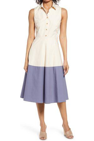 Halogen Women's Halogen Sleeveless Midi Shirtdress