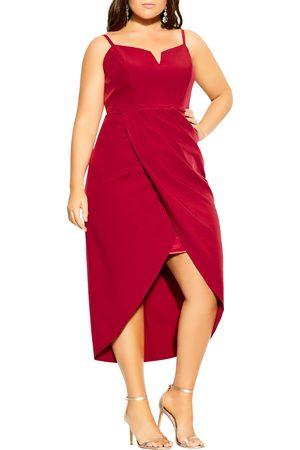 City Chic Plus Size Women's Notch Neck Sleeveless Sheath Dress