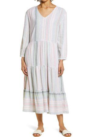 Caslon Women's Caslon Long Sleeve Tiered Midi Dress