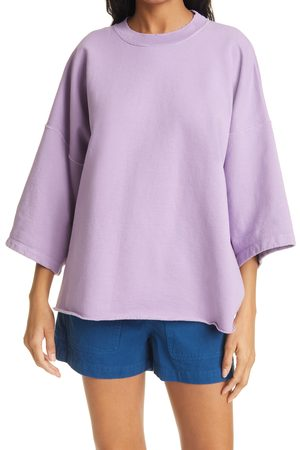 RACHEL COMEY Women's Fondly Batwing Sleeve Cotton Blend Sweatshirt