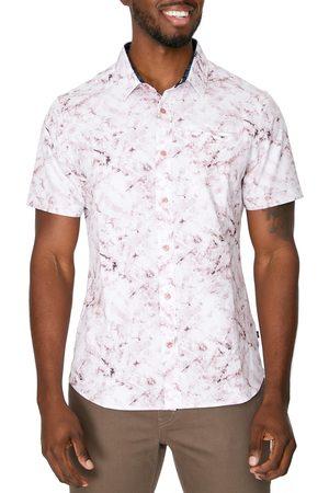 7 Diamonds Men's Crystal Cove Short Sleeve Button-Up Performance Shirt