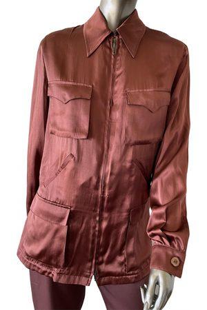 Emanuel Ungaro \N Silk Leather Jacket for Women