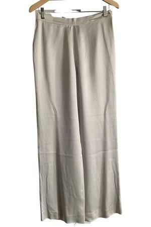 Emanuel Ungaro \N Silk Trousers for Women