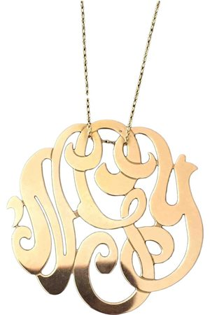 GINETTE NY Monograms Pink Necklace for Women