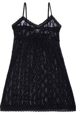 EBERJEY Women Nightdresses & Shirts - Woman Amaya Gathered Stretch-leavers Lace Chemise Size S