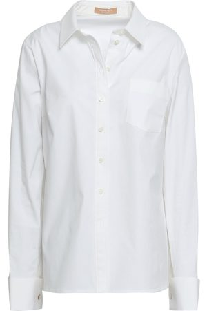Michael Kors Women Long sleeves - Woman Stretch-cotton Poplin Shirt Size 8