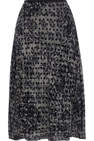Diane von Furstenberg Woman Molly Flocked Printed Silk-blend Chiffon Skirt Size S