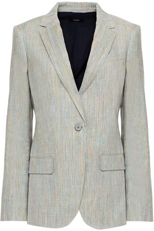 THEORY Women Blazers - Woman Staple Mélange Linen-blend Blazer Size 00