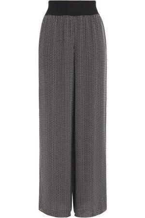 THEORY Women Wide Leg Pants - Woman Printed Silk Crepe De Chine Wide-leg Pants Size L
